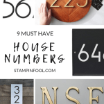 9 Most Popular Modern House Numbers In 2021 Stampinfool Com