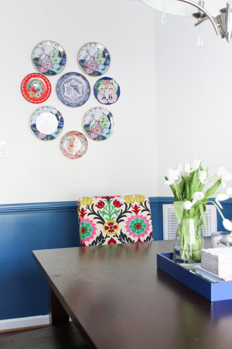 Chinoiserie Chic Dining Room Reveal and Plate Wall Tips | One Room Challenge Week 6 FINALE from StampinFool.com