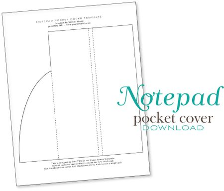 Freebie and Project: Notepad Cover