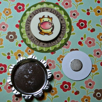 Project Stamped Bottle Cap Magnets Stamping