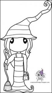 Freebie: Witch Digital Stamp