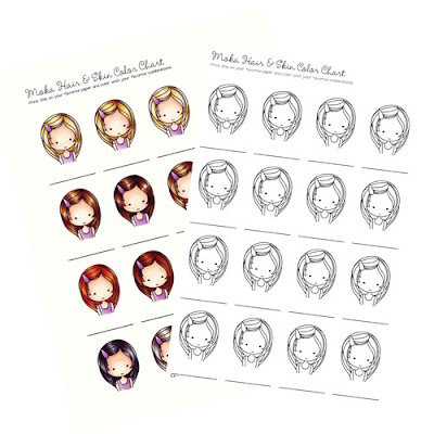 Freebie Copic Hair And Skin Coloring Charts Stamping