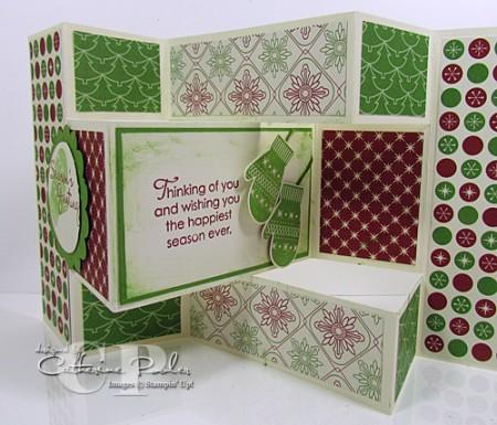 Tutorial Tri Fold Shutter Card Stamping