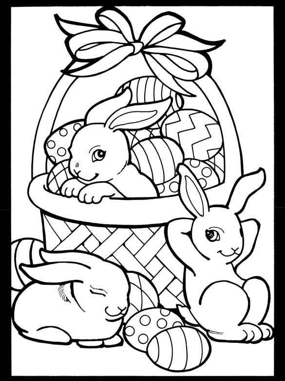 Freebie: Easter Rabbits and Basket