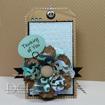 Tutorial Tattered Paper Flower Accent Stamping