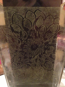 Technique: Glass Etching with Rubber Stamps