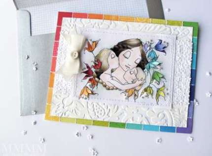 Tutorial and Freebie: Mother and Children Card