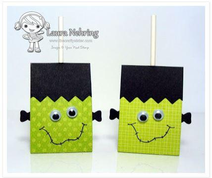 Project Frankenstein Lollipop Cover Stamping