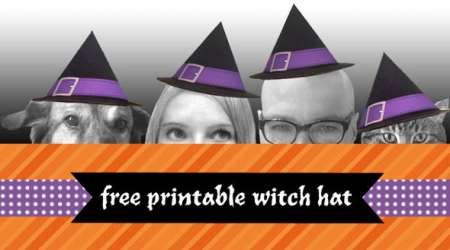 Freebie: Printable Witches Hat
