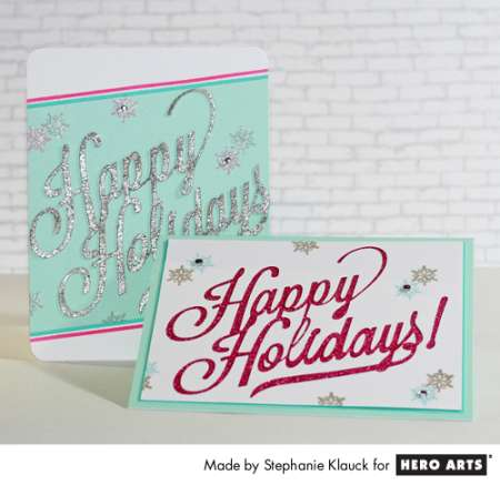 Project: Glitter Holiday Cards