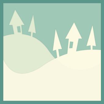 Freebie: Winter Scene SVG Cut File