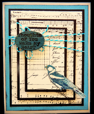Project: Card with Stamped Wooden Accent