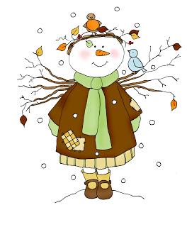 Freebie: Snow Angel Digital Stamp