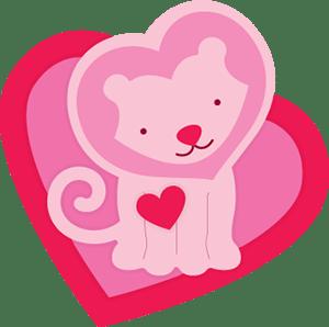 Freebie: Lion Valentine Die Cut
