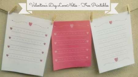 Freebie: Printable Love Notes