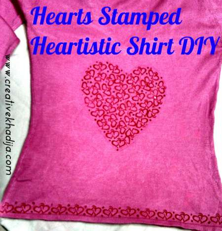 Project: Stamped Shirt for Valentine's Day