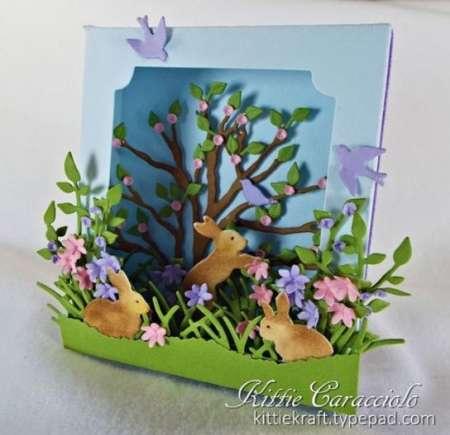 Inspiration: 3D Rabbit Card
