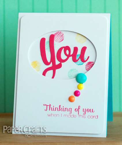 Tips: Turn a Bead into a Card Embellishment