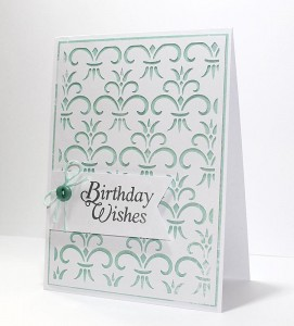 Freebie: Birthday Card Digital Stamp and Background Die Cut