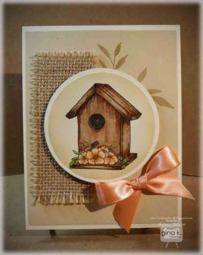Tips: Weathered Look Birdhouse Card