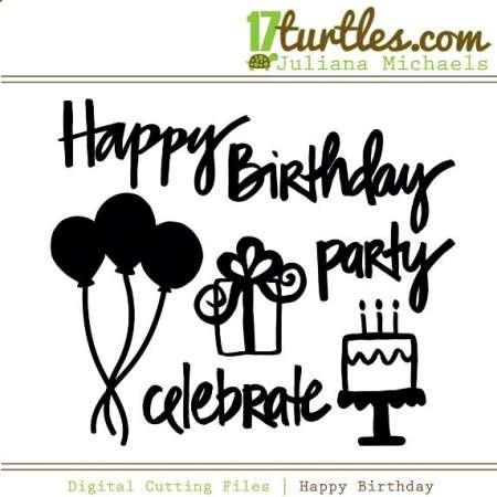 Freebie: Birthday Die Cut Files
