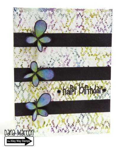 Project: Watercolor Look Birthday Card