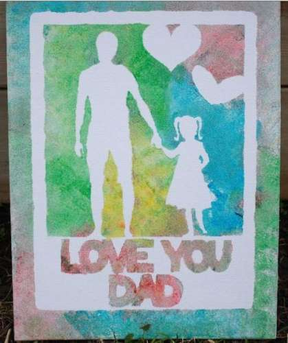 Project: Kids Finger Painted Canvas for Dad
