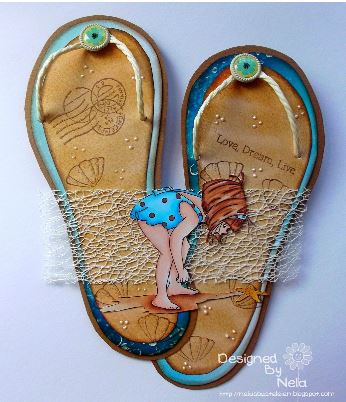 Freebie and Inspiration: Flip Flop Pattern