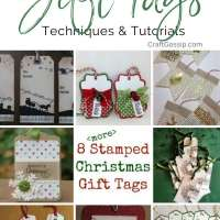 8 more Stamped Christmas Gift Tags