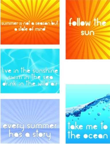 Freebie: Summer Printables