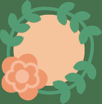 Freebie : Flower Wreath Die Cut