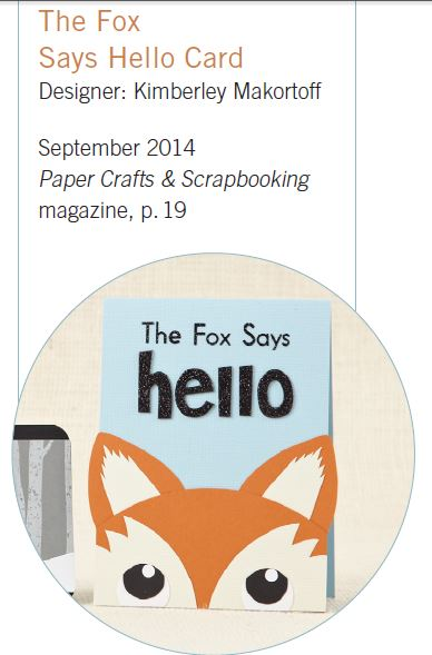 Freebie: Fox Card Paper Piecing Pattern