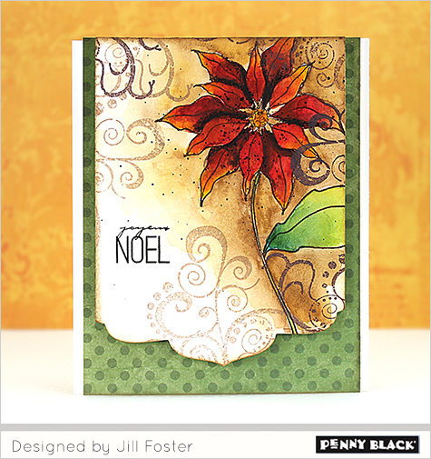 Tutorial: Water Colored Poinsettia Card
