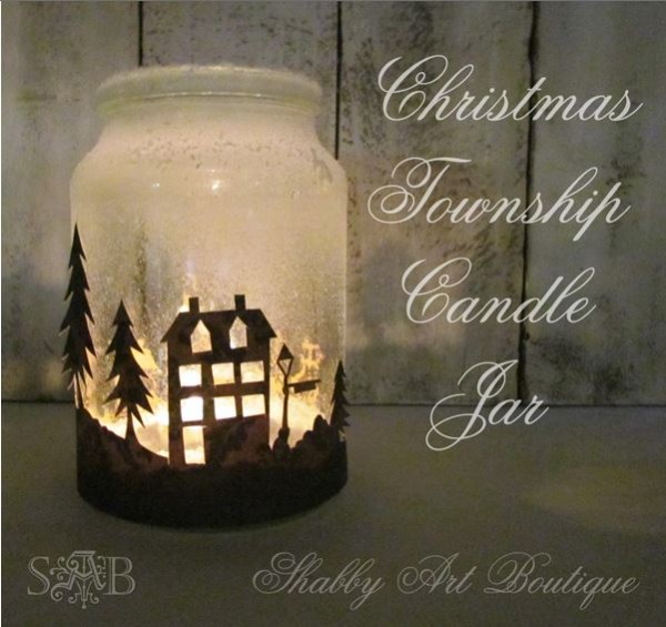 Freebie and Project: Silhouette Candle Holder