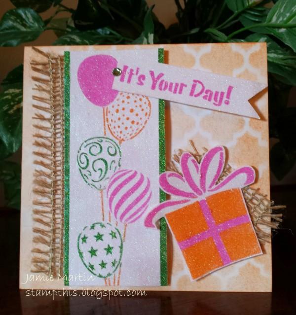 Project: Glitter Birthday Card