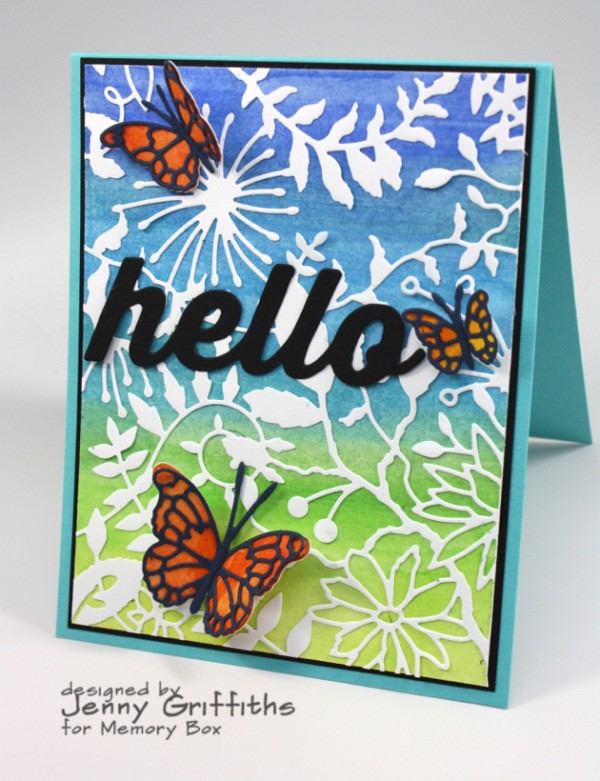 Project: Large Die Cut Card with Watercolor Background