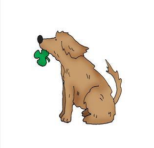 Freebie: St. Patrick's Day Dog Digi Stamp