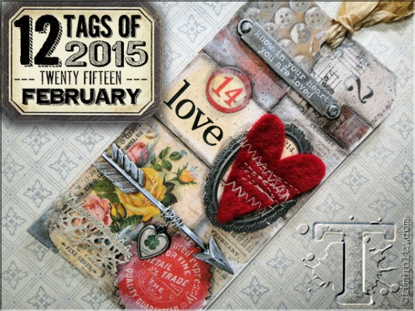 Project: Tim Holtz Monthly Tag for February