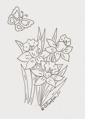 Freebie Spring Flowers Digital Stamp Stamping