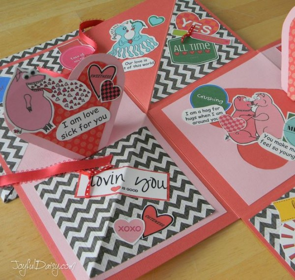 Project: Valentine Pop Up Book