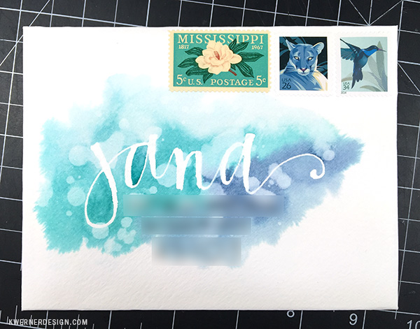 Project: Watercolor Envelopes