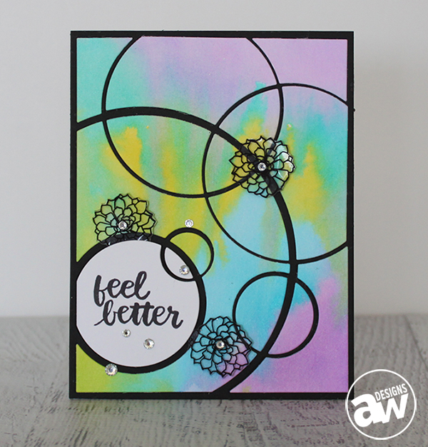 Techniques: Card with Inlaid Die Cuts and Water Coloring