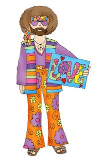 Freebie: Hippie Dude Digital Stamp