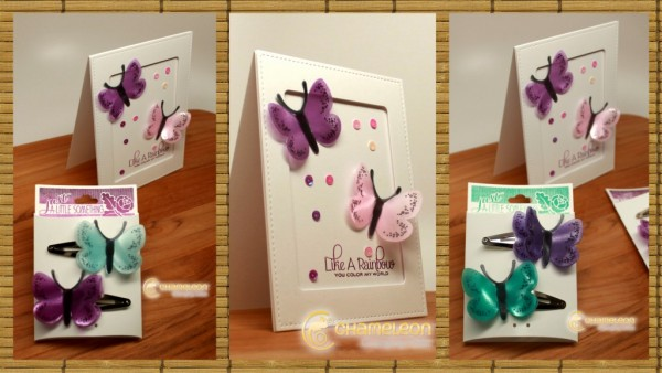 Project: Butterfly Hair Clips and Card
