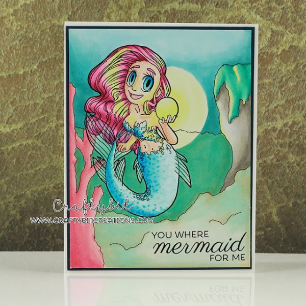 Project: Mermaid Card with Copic Coloring