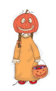 Freebie: Pumpkin Head Digi Stamp