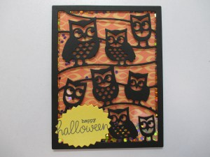 Project: Halloween Owl Shaker Card