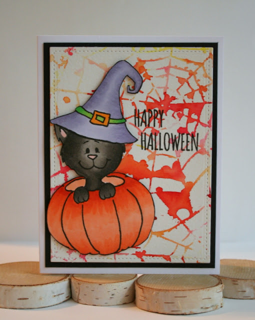 Project: Halloween Card with Digis and Stencils