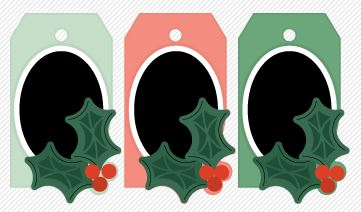 Freebie: Holly Holiday Gift Tags