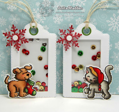 Project Cat And Dog Shaker Gift Tags Stamping